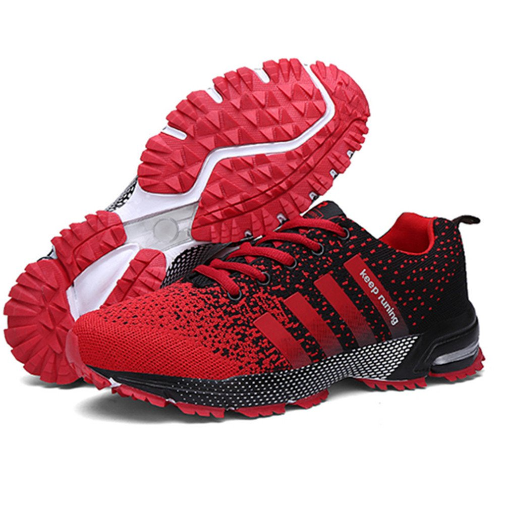KUBUA Womens Running Shoes Trail Fashion Sneakers Tennis Sports Casual Walking Athletic Fitness Indoor and Outdoor Shoes for Women 5.5 B / 4.5 D F Red by KUBUA (Image #3)
