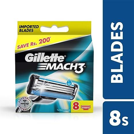 Gillette Mach3 A estrenar Cuchillas/cartuchos 100% originales – 8 blades