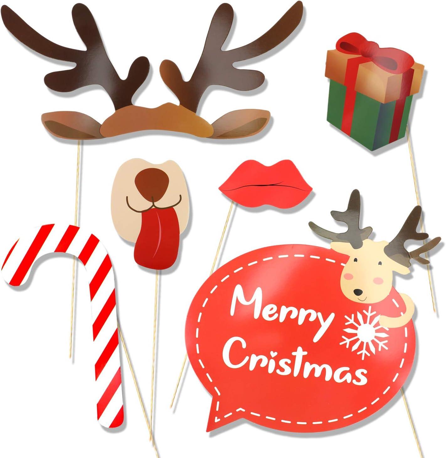 HOWAF 25pcs Navidad photocall DIY Photo Booth Accesorios ...