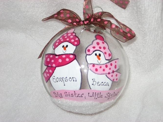 amazon com big sister little sister personalized christmas