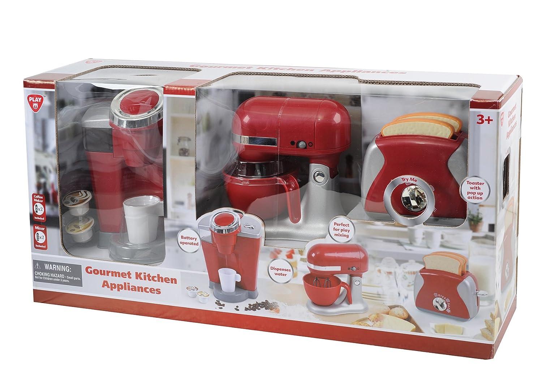 Amazon Com Playgo 3 Pc Gourmet Kitchen Appliance Set Toys Games