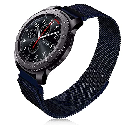V-MORO Milanese Band Compatible with Gear S3 Frontier/Galaxy Watch 46mm Bands Stainless Steel Metal Bracelet Strap for Samsung Gear S3 ...