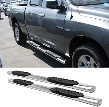 Cercia Side Step Nerf Bars Fit Ram 02-08 1500 03-09 2500//3500 Quad//Crew Cab Running Boards 4 Oval S//S