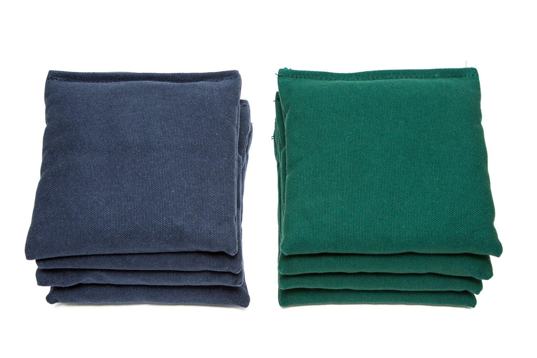Weather Resistant Cornhole Bags (Set of 8) by SC Cornhole (Navy Blue/Hunter Green)