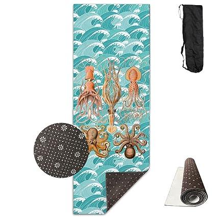 Amazon.com : Giant Squid Ocean Sea Yoga Mat Towel For Bikram ...
