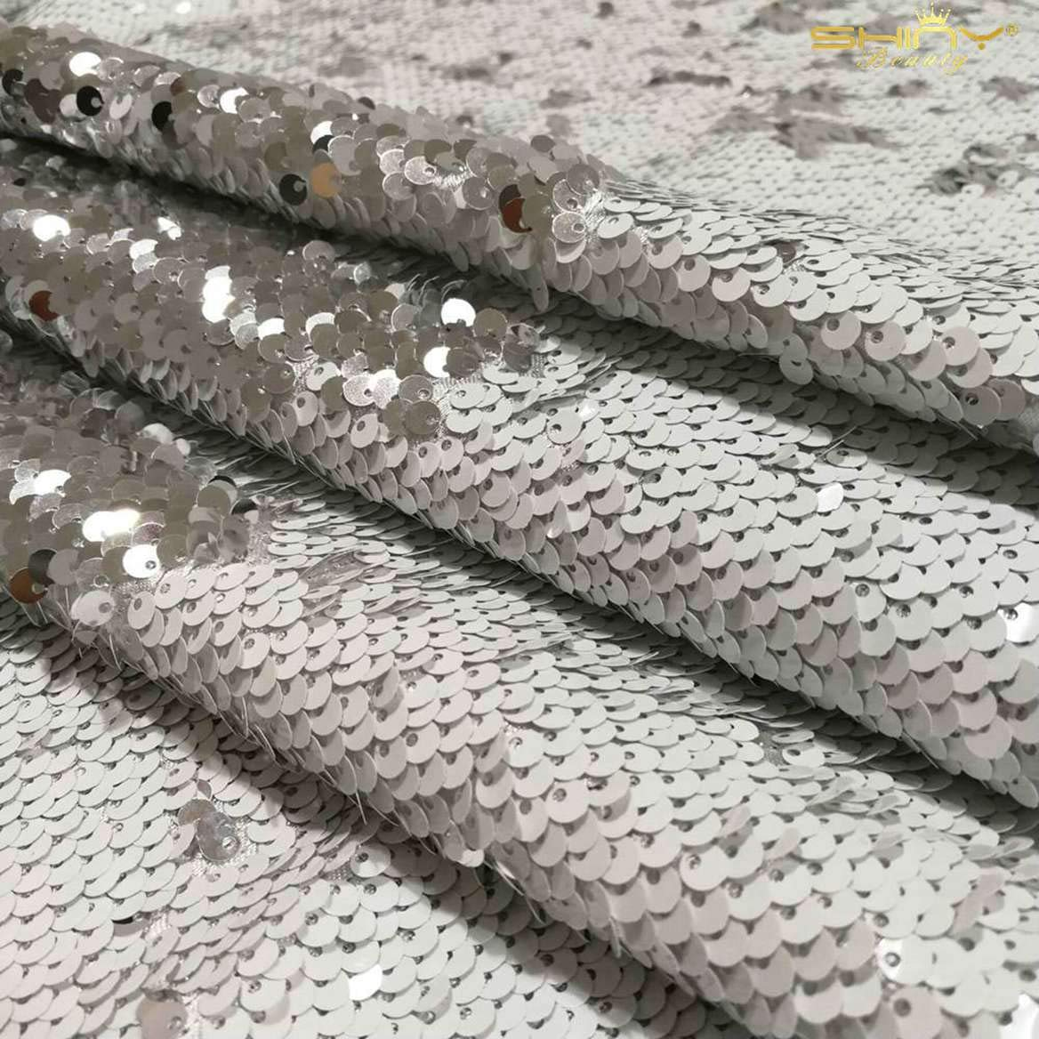 the most fashionable ShinyBeauty 20 Yard Mermaid Sequin Fabric by ...