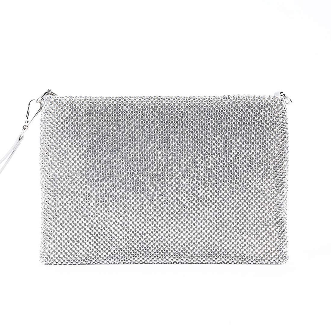 Klerokoh Damen Vintage Clutch Clutch Clutch Abend Handtasche Braut Prom Handtasche (Farbe   Silber) B07Q8GLH1M Clutches Hohe Qualität 5aad50