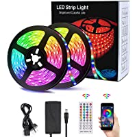 12M LED Strip Lights, SMD 5050 Lights Strip Music Sync, App Control with Remote, LED Rope Light for Bedroom, Home and…