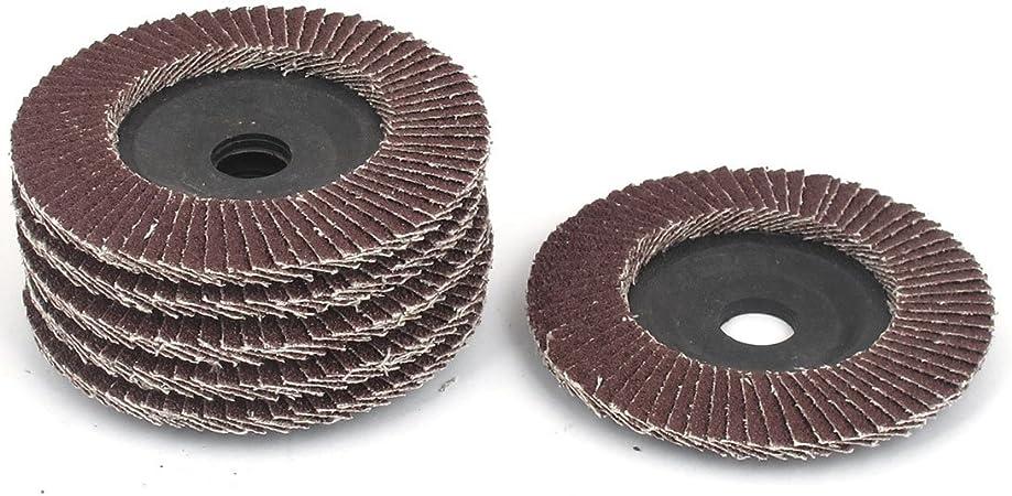 Utoolmart 100mm Impeller Grinding Wheel Disc Polishing Silcon Carbide Wheel Sandpaper Sheet 80 Grit Buffing Wheel 5 Pcs
