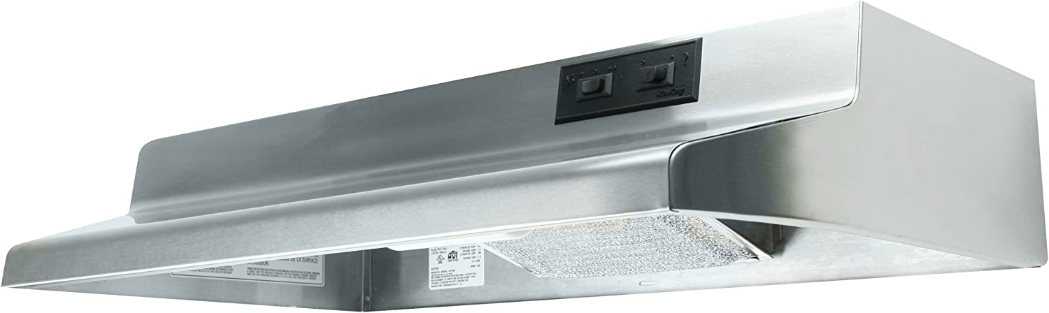 Air King AV1218 Advantage Convertible Under Cabinet Range Hood with 2-Speed Blower and 180-CFM, 7.0-Sones, 21-Inch Wide, Stainless Steel Finish