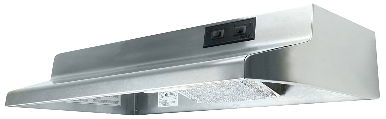 Air King AV1428 Advantage Convertible Under Cabinet Range Hood with 2-Speed Blower and 180-CFM, 7.0-Sones, 42-Inch Wide, Stainless Steel Finish