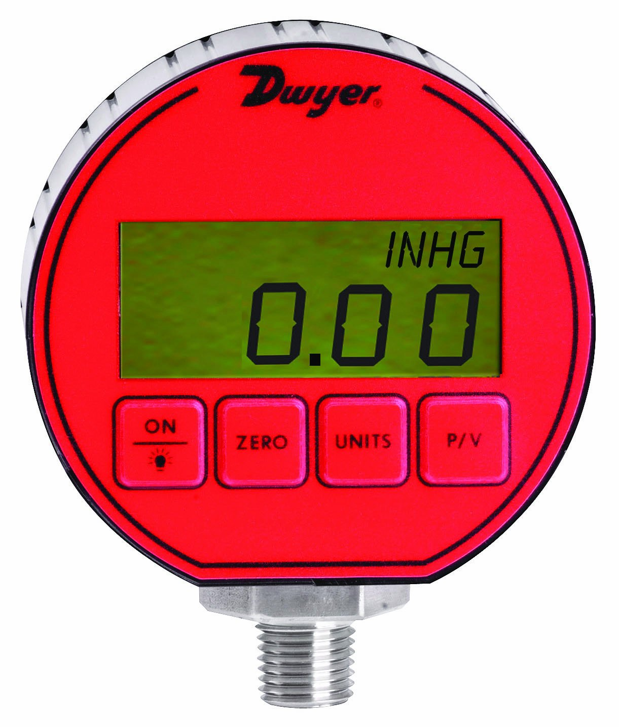 Dwyer DPG Series Digital Pressure Gauge, Plus /-0.5-Percent Full Scale Accuracy, Range -30' Hg to 0 to 15 Psig Range -30 Hg to 0 to 15 Psig Dwyer Instruments DPG-020
