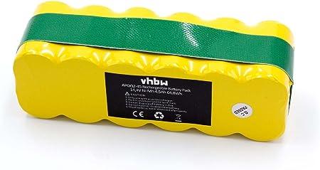 vhbw Batería compatible con Aircraftvacuums Pilot Lux, Pilot Zen aspiradora, robot de limpieza (4500mAh, 14,4V, NiMH): Amazon.es: Hogar