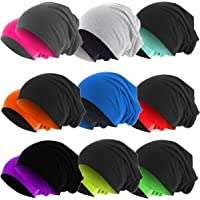 Hatstar Slouch Long Beanie 2in1 Reversible Jersey Mütze in 44 Farben Wintermütze