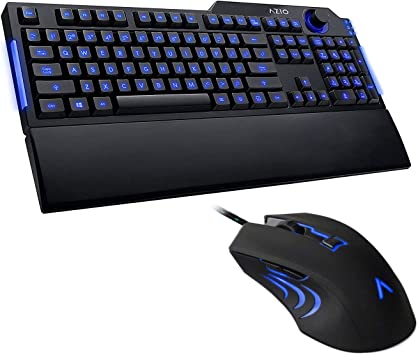 AZIO Levetron LED Backlit Gaming Keyboard DPI Adjustment Gaming Mouse Combo