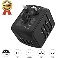 JMFONE Universal All in One 4 USB Power Adapter with Electrical Plug