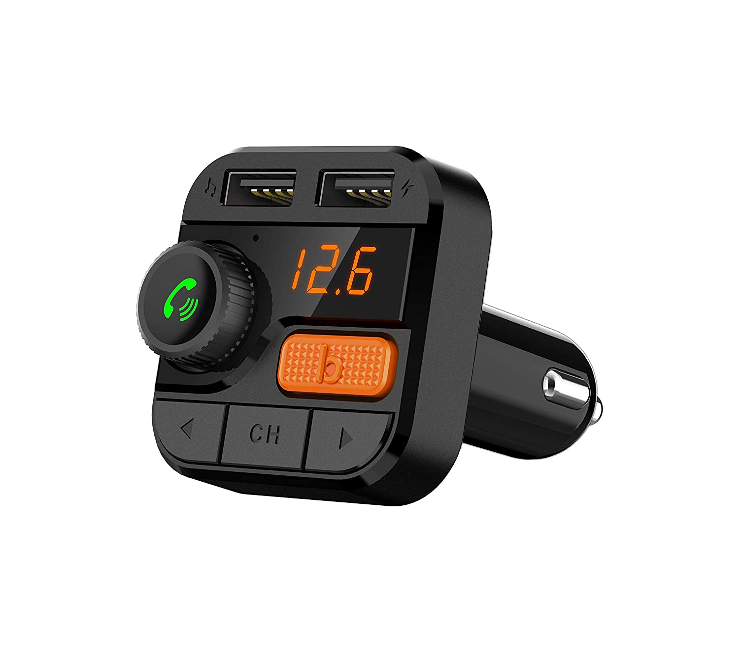 Support Hands-Free Calling,Three Playing Ways,Bluetooth5.0 Fast Charger Super Bass FITNATE Bluetooth FM Transmitter for Car Upgraded Version Wireless FM Radio Music Player