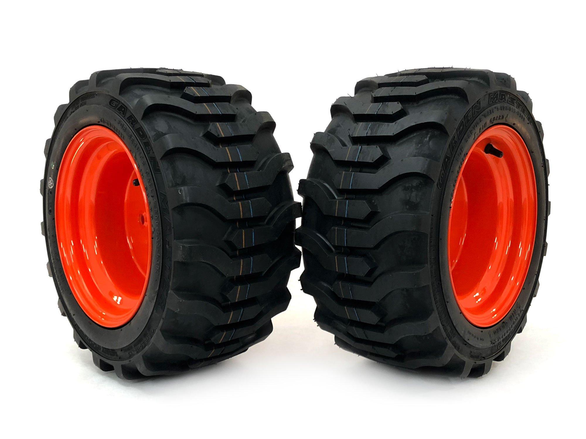 MowerPartsGroup (2) Kubota Front Wheel Assemblies 18x8.50-10 Fits BX2350D BX2360 BX2370 BX2380