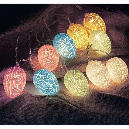 Amazon Com Chasgo 10 Led Easter Decorations Eggs Lights Battery