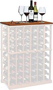N'FINITY Wine Rack - Tabletop - Dark Walnut - Solid Mahogany
