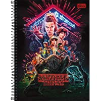Caderno Universitário 1x1 80 fls C.D. Tilibra - Stranger Things 1