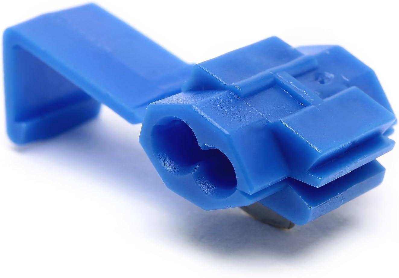 Semoic Terminales de cable 100pcs rapida Splice Conectores Lock Crimp Electrica Electrica Azul