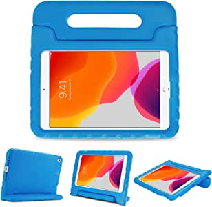 """ProCase Kids Case for 10.2"""" iPad 8th Gen 2020 / 7th Gen 2019 / iPad Air 10.5"""" (3rd Gen) / iPad Pro 10.5"""", Shockproof Convertible Handle Stand Cover Light Weight Kids Friendly Case -Blue"""