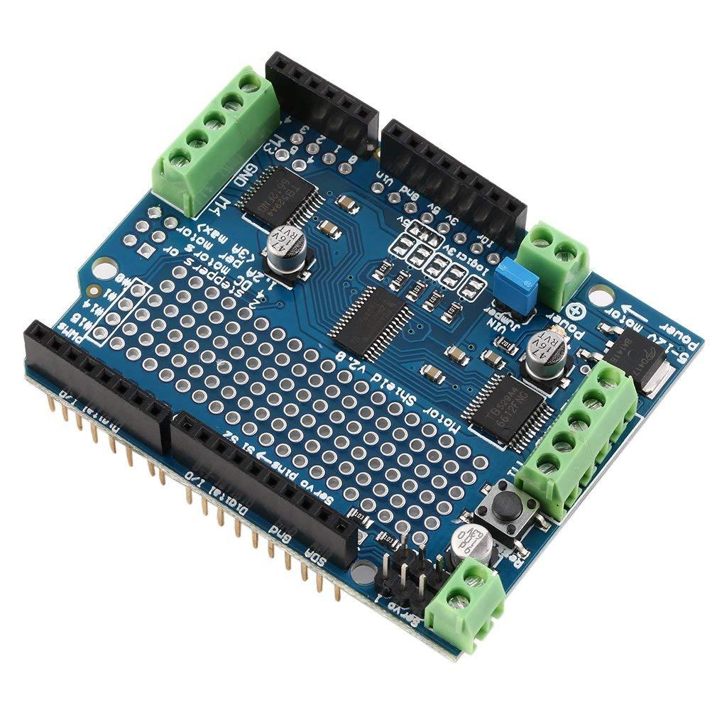 Stepper Robot Shield f/ür Arduino v2 mit PWM Treiber Shield FairytaleMM Blauer Motor Servo