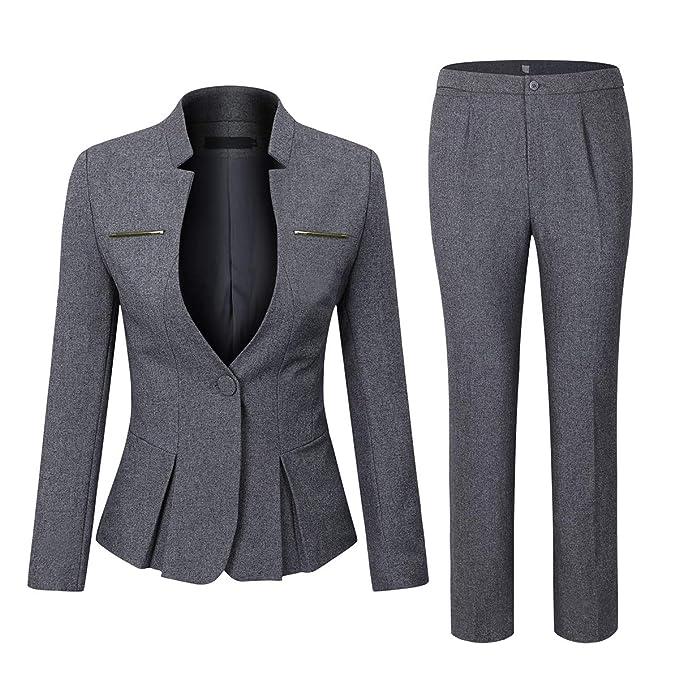 Amazon.com: YUNCLOS - Conjunto de traje de mujer elegante de ...