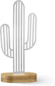 NOX Design Cactus Sign with Stylish Bamboo Stand - Cactus Decorations for Home - Gifts for Plant Lovers - Cactus Gifts - Cactus Decor - Plant Lover Gifts