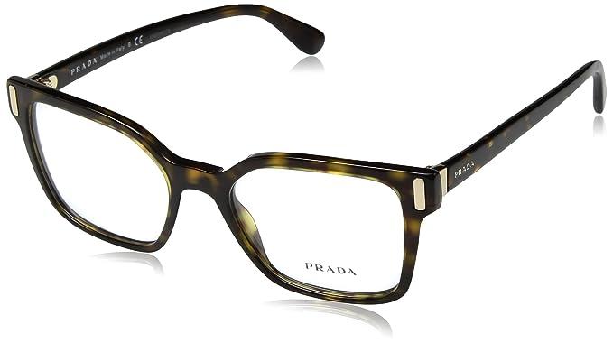 d4fc23312a2 Image Unavailable. Image not available for. Color  Prada PR05TV Eyeglass  Frames 2AU1O1-52 - Havana ...
