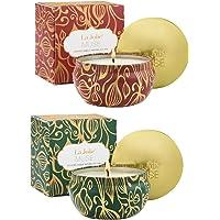 La Jolie Muse Bougie parfumée à la Cire de soja à 100% Aromathérapie à la Vanille et à la Noix de Coco pour soulagement de Stress Boite de Voyage de 45Heures