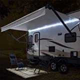 RecPro RV Camper Motorhome Travel Trailer 16' White LED Awning Party Light w/Mounting Channel & White PCB 12v Light