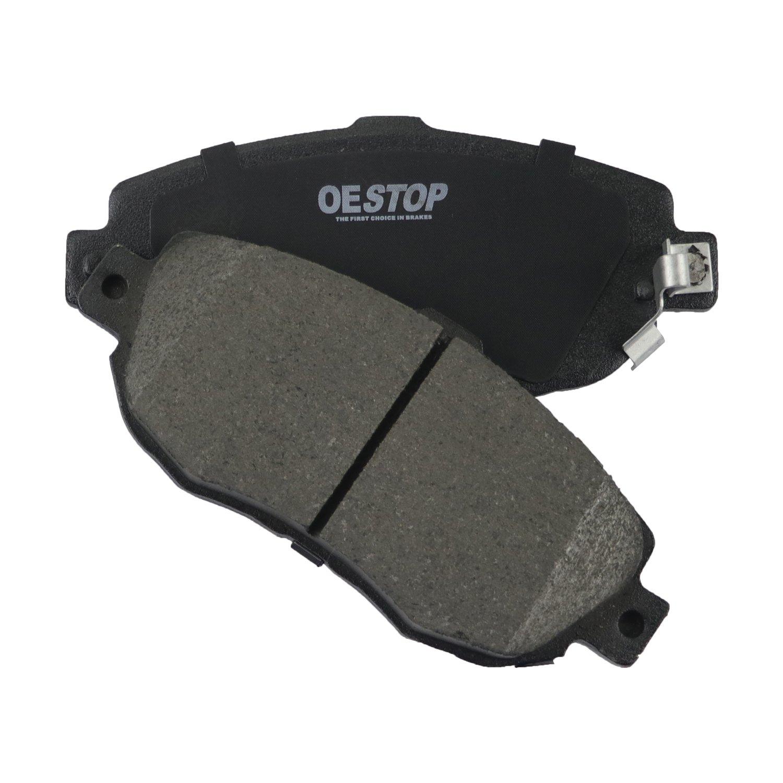 1 Pack Front OE STOP OS619 Ceramic Premium Brake Pad Set With Installation Hardware
