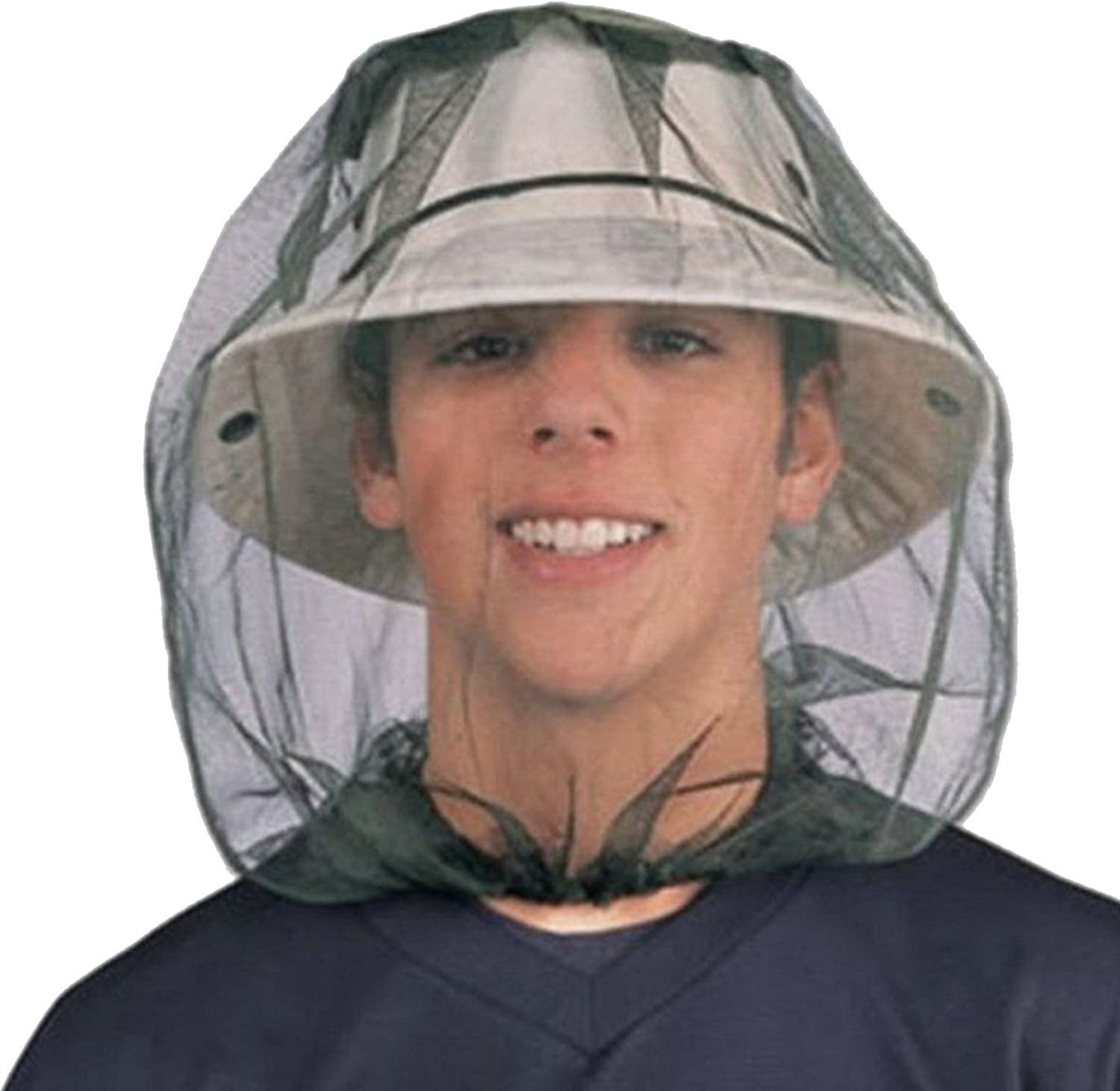 Mosquito Fly Head Net Insect Mesh Hat Bee Bug Mozzie Travel Protector Fishing