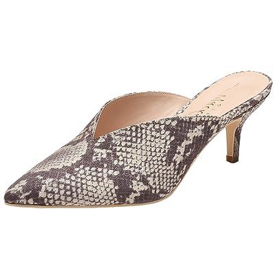 MACKIN J G224-1 Women Pointed Toe Slip On Kitten Low Heel Mules Pumps Slides Snake 8 | Mules & Clogs