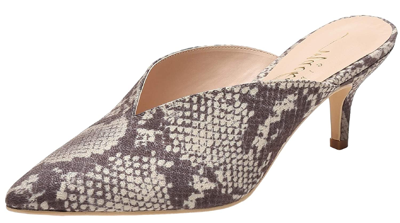 9fba32e8c7711 Amazon.com | Mackin J G224-1 Women Pointed Toe Slip On Kitten Low Heel  Mules Pumps Slides | Mules & Clogs
