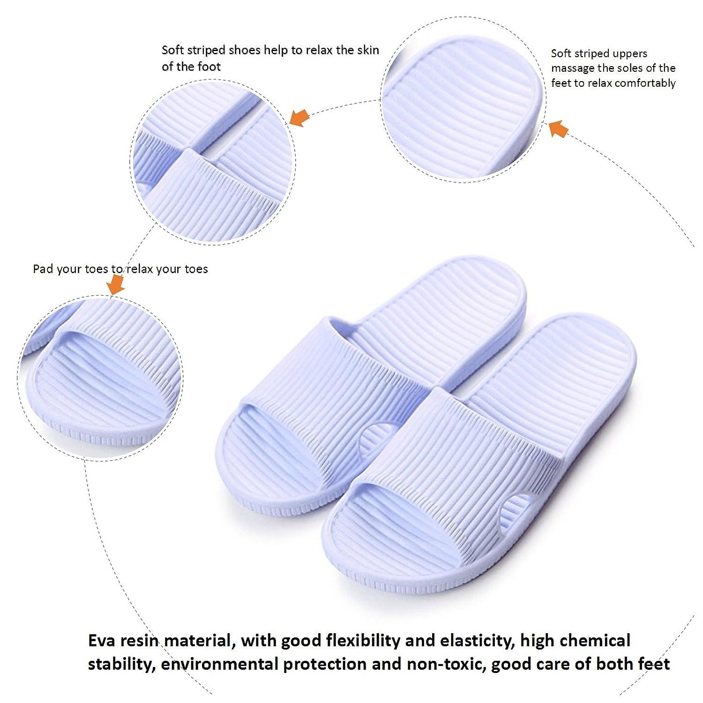 Amazon.com | Maizun Slippers Non-Slip Shower Sandals House Indoor ...