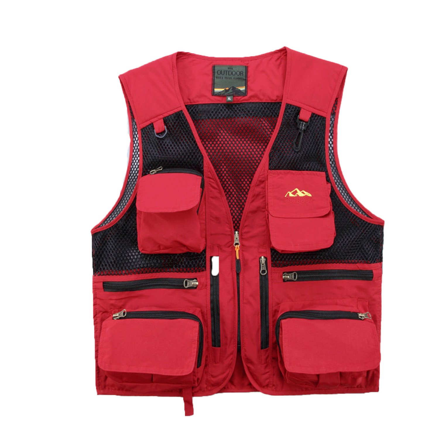 IyMoo Mens Mesh Fishing Vest Multi Pockets Photography Outdoor Climbing Causual Tactical Vest-Multi Use Vest