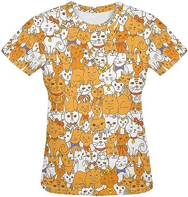 INTERESTPRINT Kids T-Shirts Funny Cats XS-XL