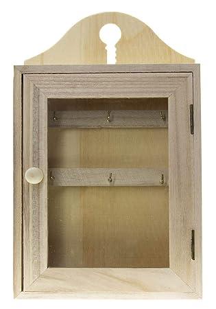 caja llavero de madera de pared, caja llavero de pared ...