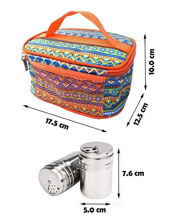 Botes de Condimento con Bolsa de Port/átil Ideal para Camping//Picnic//Viaje//Al Aire Libre//Cocina #1 KBstore 6 Piezas Tarro de Acero Inoxidable para Especias