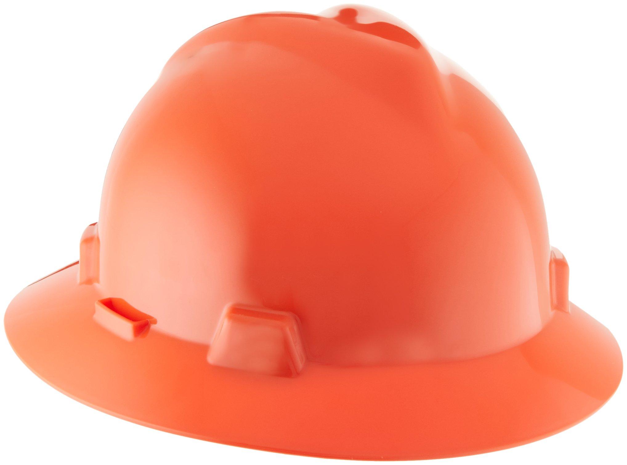 MSA 10058322 V-Gard Protective Hat, Orange