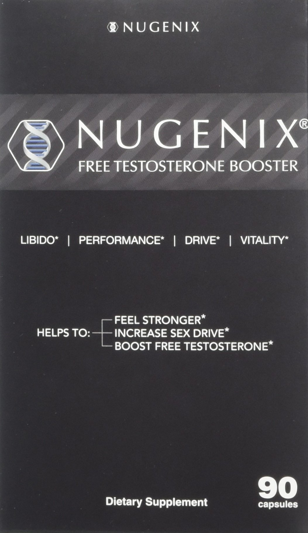 Nugenix Natural Testosterone Booster Libido Strength, 90 Count