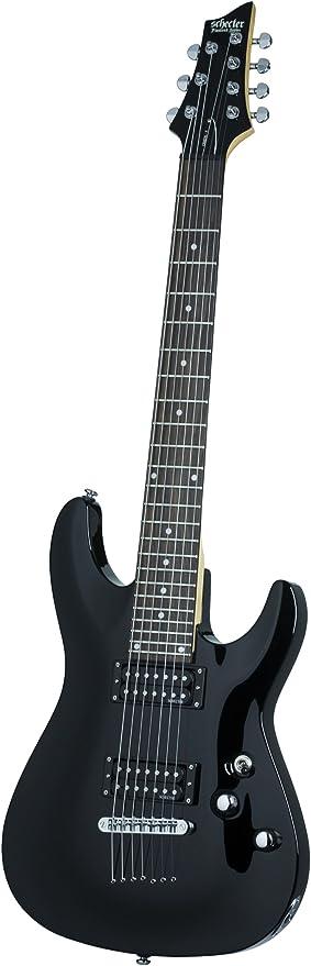 Schecter omen-7 (7 cuerdas Guitarra eléctrica (negro brillante ...