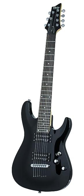 Schecter omen-7 (7 cuerdas Guitarra eléctrica (negro brillante)