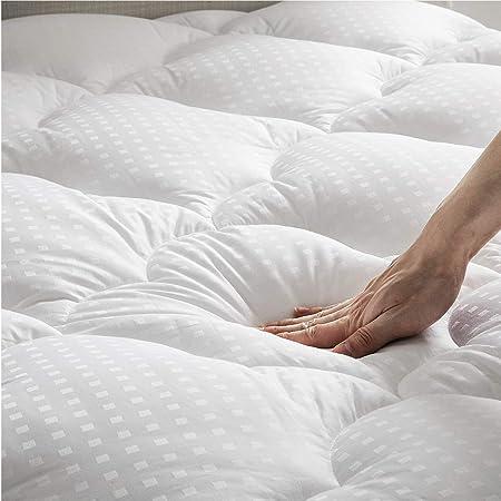 Amazon.com: Bedsure - Protector de colchón con relleno de ...