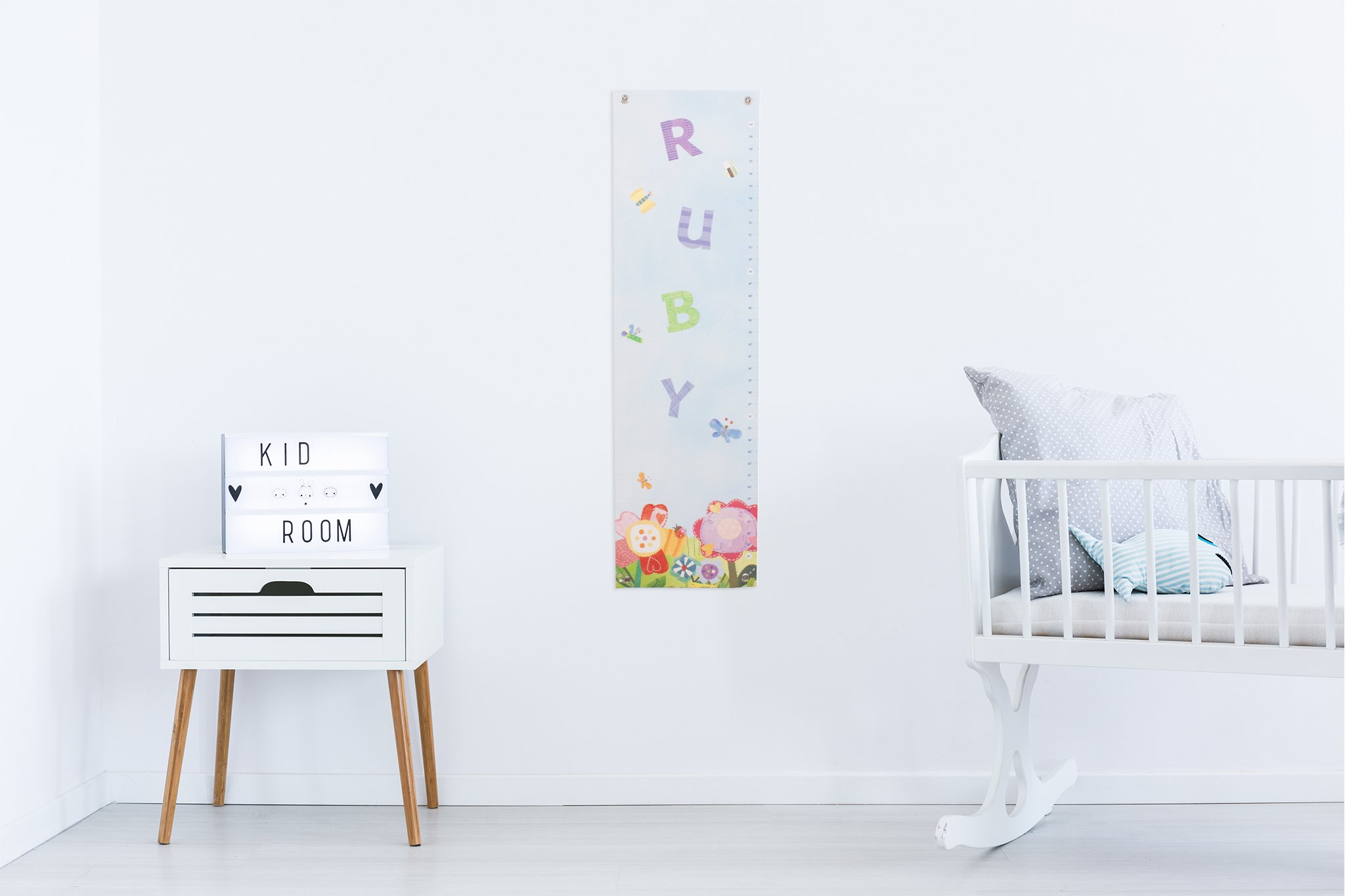 Personalized Growth Chart Ruler Floral Nursery Décor by I See Me!