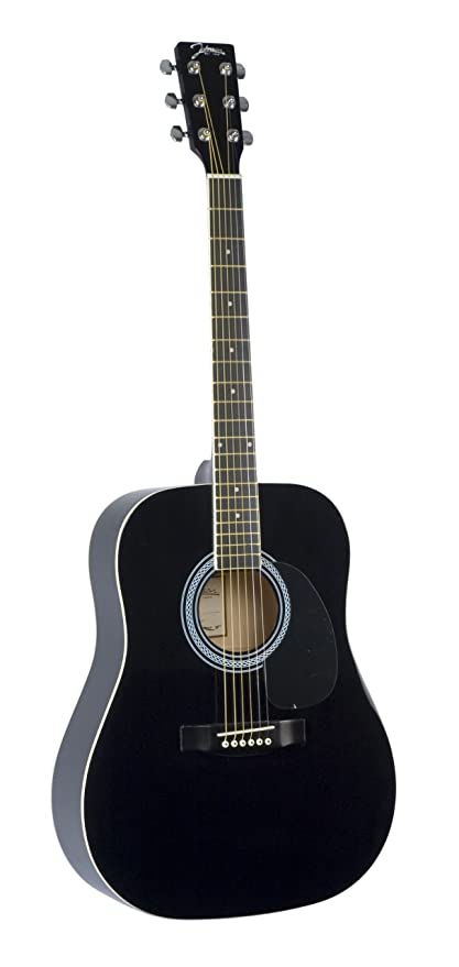 Johnson JG-610-B 610 Player Series Acoustic Guitar, Black