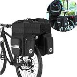 ROCKBROS(ロックブロス) 自転車パニアバッグ 3in1多機能リアバッグ バックパック 約45L大容量 防水カバー付